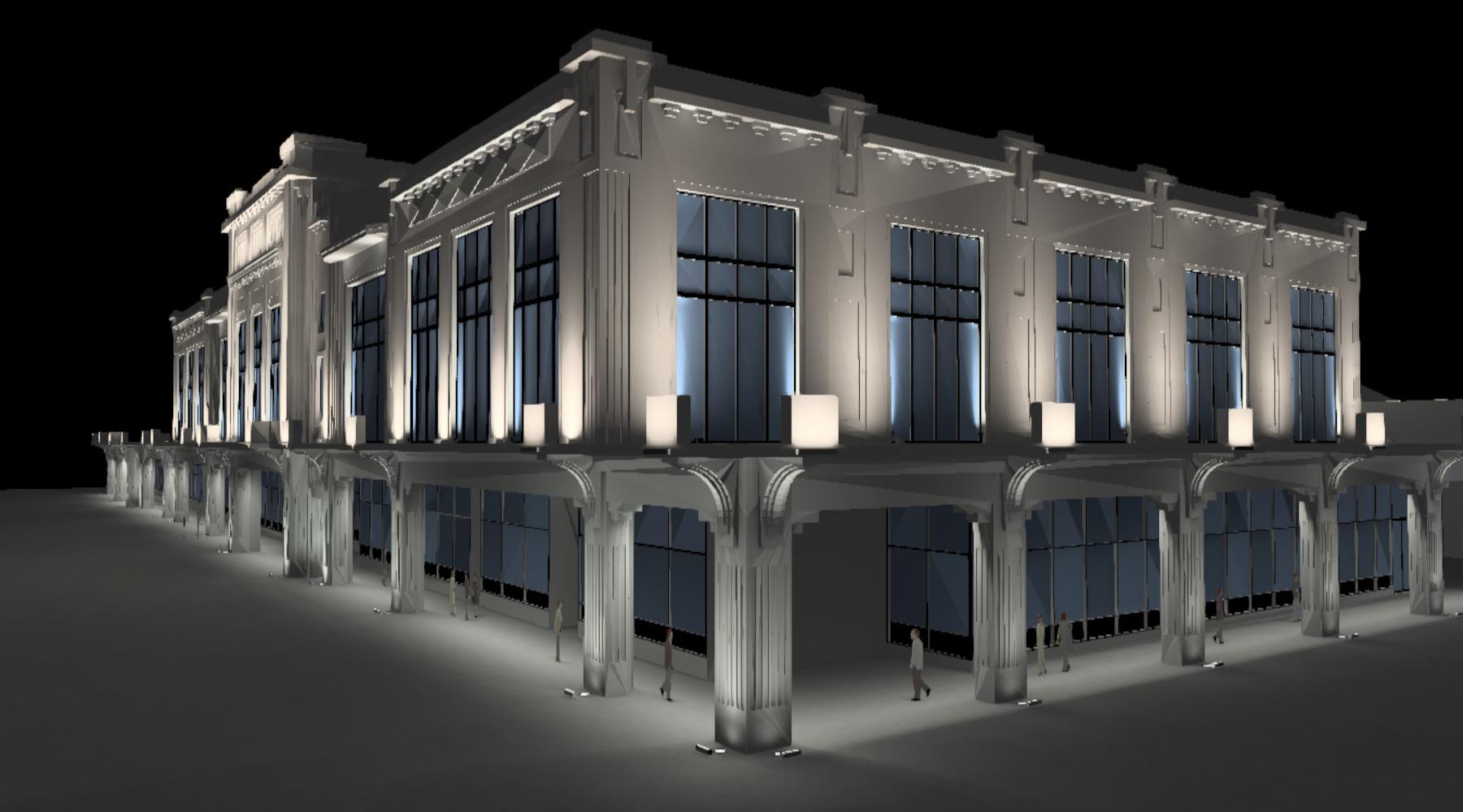 modèle 3D dialux pour la conception lumière du casino de Biarritz
