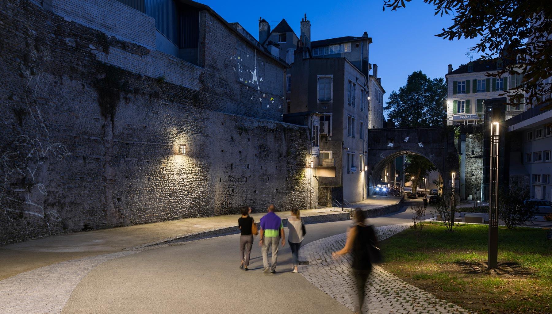 Quartiers Hédas à Pau projet lumière