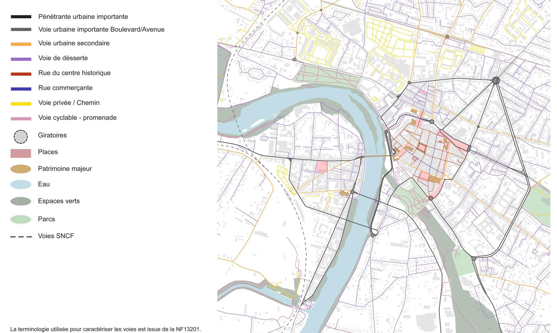 hiérarchisation des voies de circulation à Montauban