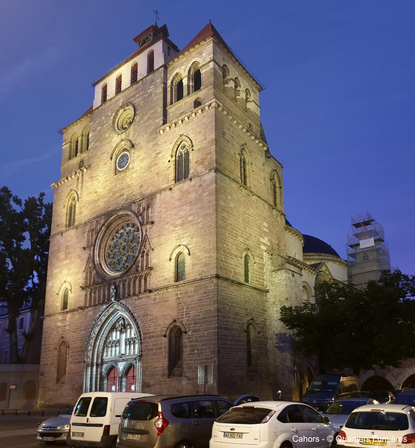 éclairage de la cathédrale de cahors