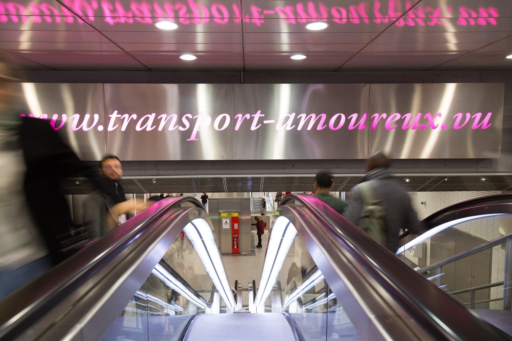 oeuvre d'art à la station Jeanne d'Arc du métro de toulouse