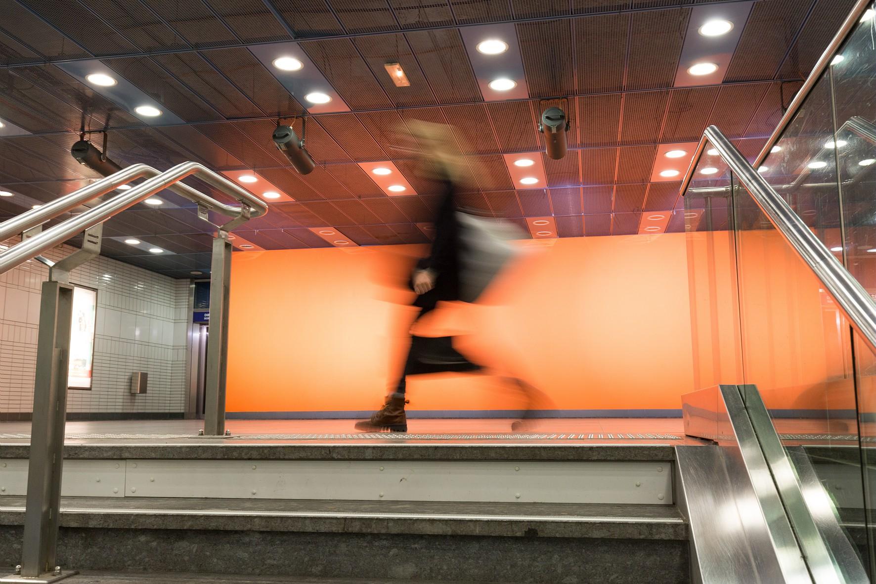 oeuvre d'art à la station Minimes Claude Nougaro du métro de toulouse