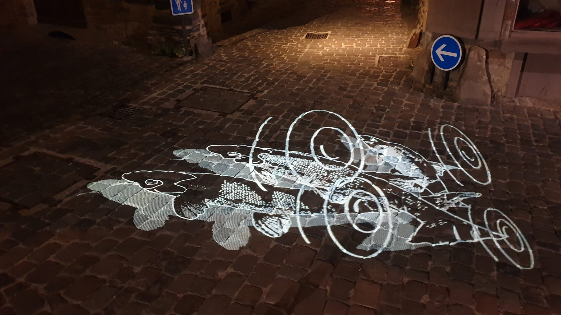 projection d'images gobo au sol