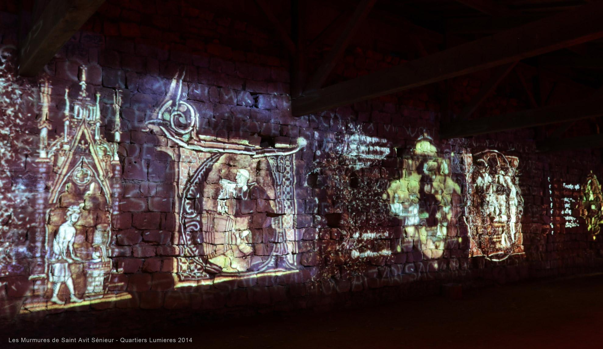 projection d'image lumière sur un mur