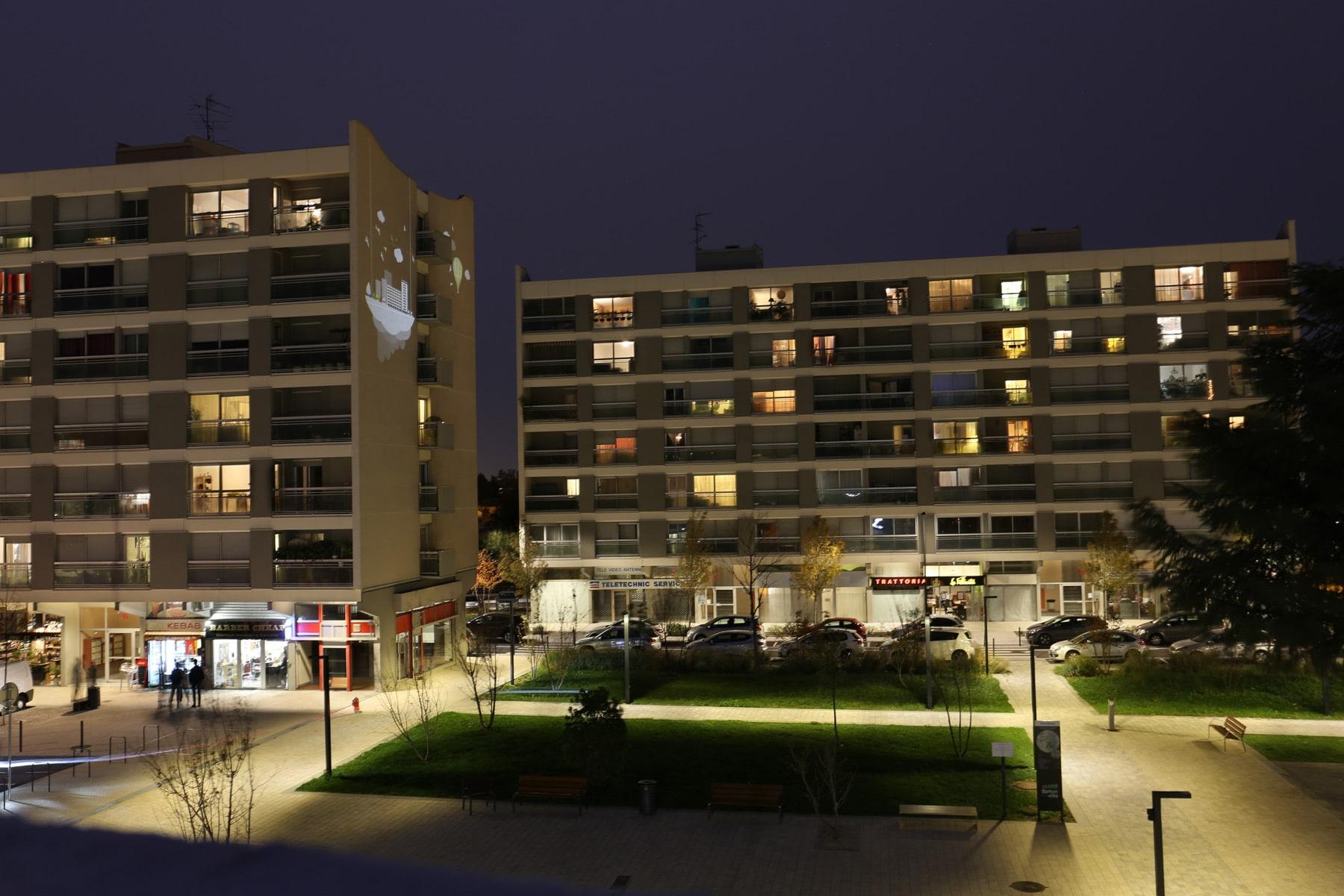 éclairage de la place Marnac à Ramonville